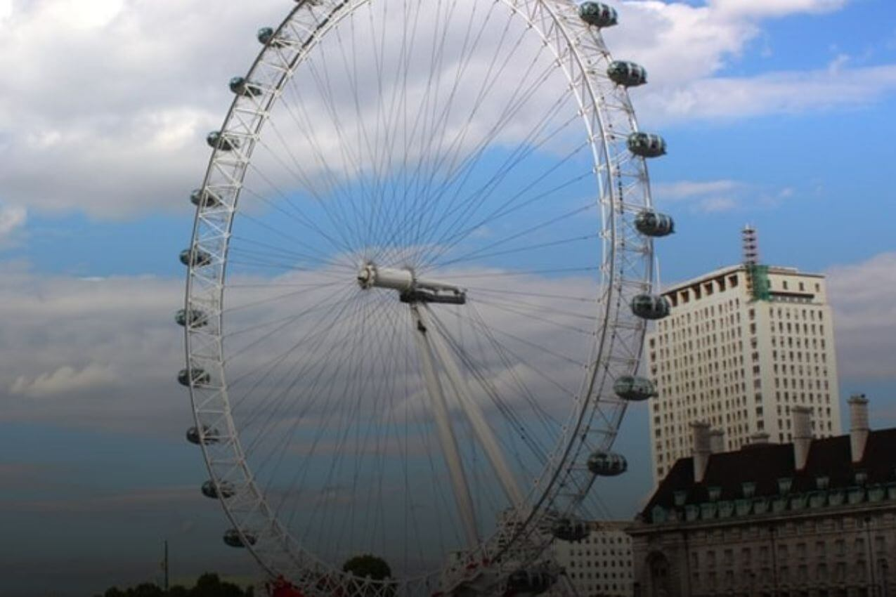 The London Eye by Vintage Bus