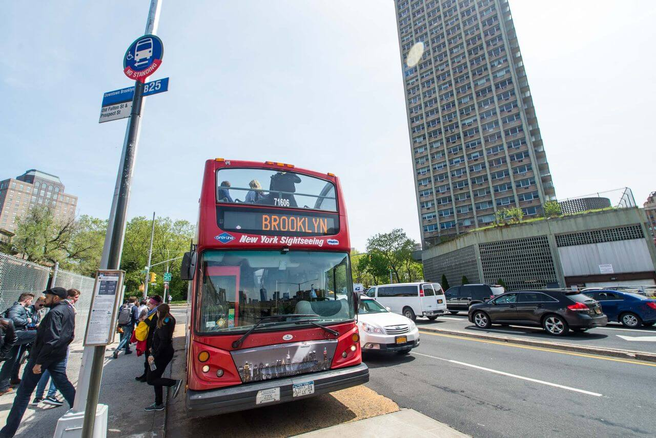 New York Hop On Off Bus Map on