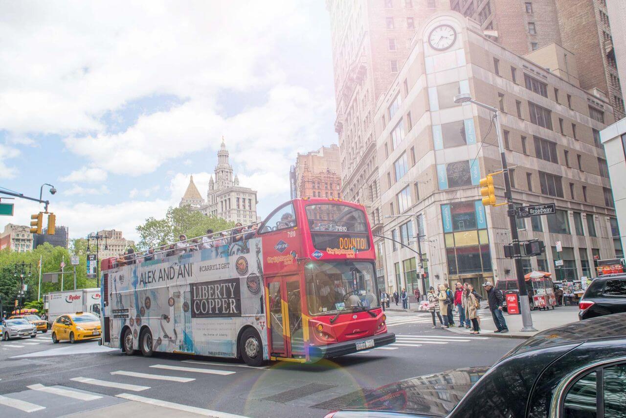 New York Double Decker Hop On Hop Off Bus Tours City